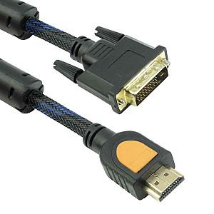 Καλώδιο DeTech HDMI σε DVI, 1.8m,