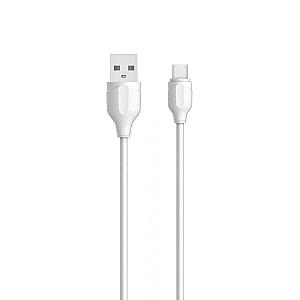 Кαλώδιο δεδομένων LDNIO LS372, Micro USB, 2.0m, Λευκό