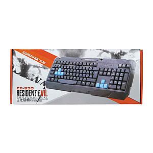 Ενσύρματο Σετ  Gaming ποντίκι και πληκτρολόγιο ZornWee Resident Evil, Μαύρο
