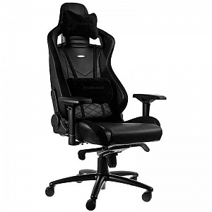 noblechairs EPIC Gaming Chair Breathable, 4D armrests, 60mm casters - black