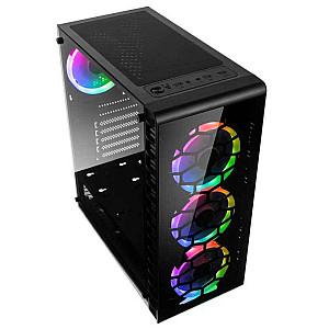 Kolink Observatory Lite RGB Midi-Tower - Tempered Glass - Black