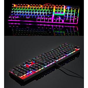 Gaming Πληκτρολόγιο Motospeed CK104 RGB Mechanical - Red Switches - Silver