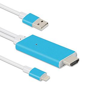 Καλώδιο ΟΕΜ iPhone 5/6/7 (Lightning) σε HDMI, 1.5m